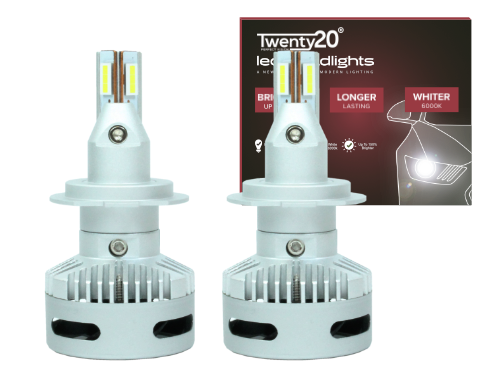 H7 Twenty20 Projector LED Headlight Bulbs (Pair)