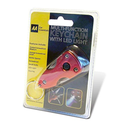 AA Multi-Function Keychain with LED Light