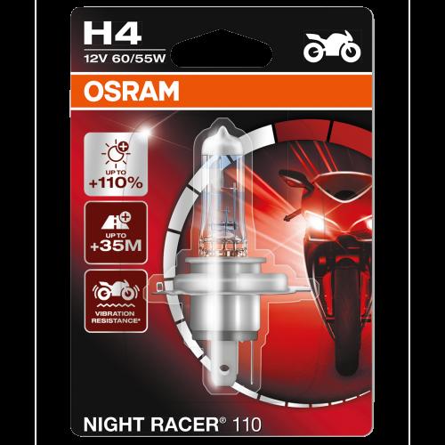 H4 OSRAM Motorbike Night Racer110 12V 60/55W 472 Halogen Bulb