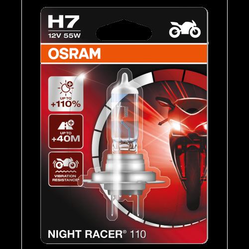 H7 OSRAM Motorbike Night Racer 110 12V 55W 477 Halogen Bulb