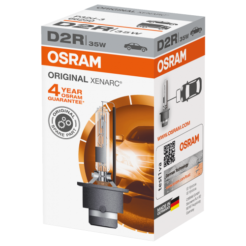 D2R OSRAM Original Xenarc Standard Replacement 35W 4300K Xenon HID Bulb