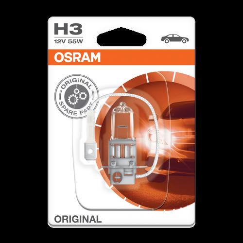 H3 OSRAM Original 12V 55W 453 Halogen Bulb