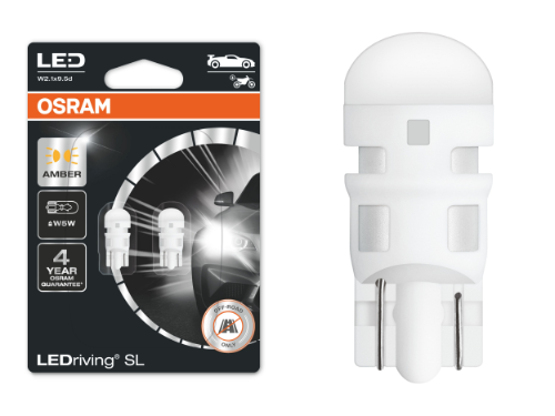 501 OSRAM LEDriving SL Range (W5W) LED Upgrade Bulbs (Amber) - Pair