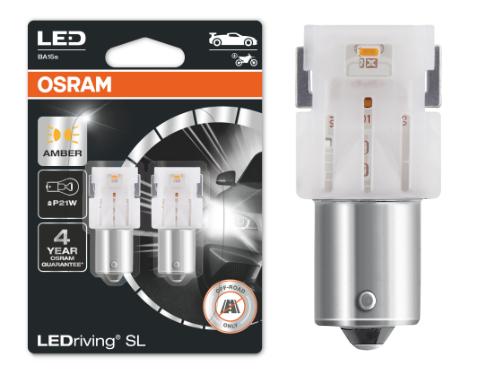 382 OSRAM LEDriving SL Range (P21W) LED Upgrade Bulbs (Amber) - Pair