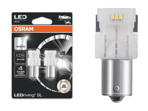 382 OSRAM LEDriving SL Range (P21W) LED Upgrade Bulbs (White) - Pair