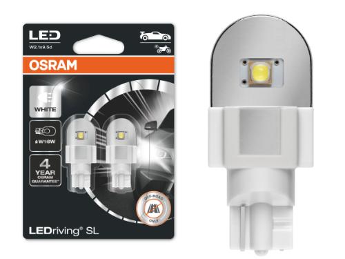 955 OSRAM LEDriving SL Range (W16W) LED Upgrade Bulbs (White) - Pair