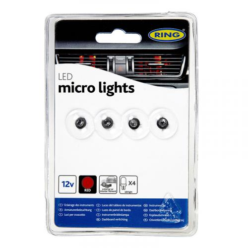 RING LED Prism Micro Lights 12v 4x LED's (Blue, Red And Green)