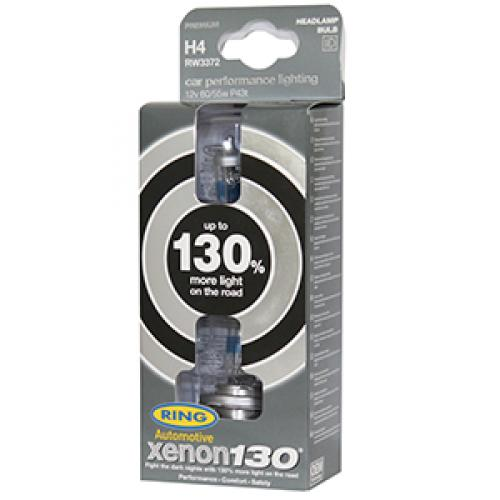 H4 Ring Xenon130 +130% 12V 60/55W 472 Halogen Bulbs (Pair)