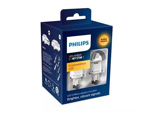 Philips X-treme Ultinon Gen2 582 WY21W LED in Amber (Pair)