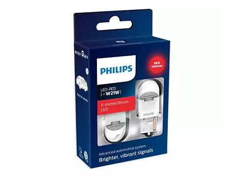 Philips X-treme Ultinon Gen2 582 W21W LED in Red (Pair)