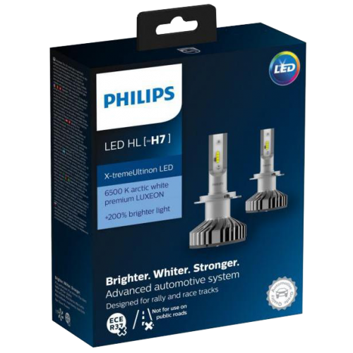 h7 philips x treme ultinon led headlight bulbs pair. Black Bedroom Furniture Sets. Home Design Ideas