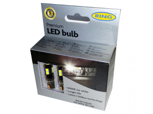 501 Ring Premium LED 12V W5W Canbus Wedge Bulbs (Pair)