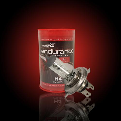 H4 Twenty20 Endurance 12V 60/55W 472 Halogen Bulb