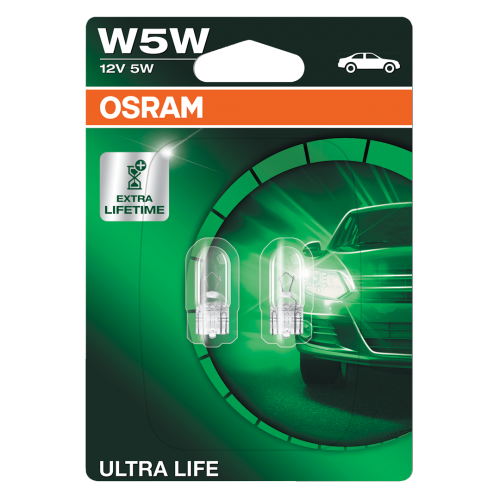 Osram Ultra Life V W Ww Wedge Bulbs Pair