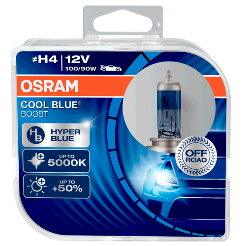 H4 OSRAM Cool Blue Boost 12V 100/90W 472 Halogen Bulbs (Pair)