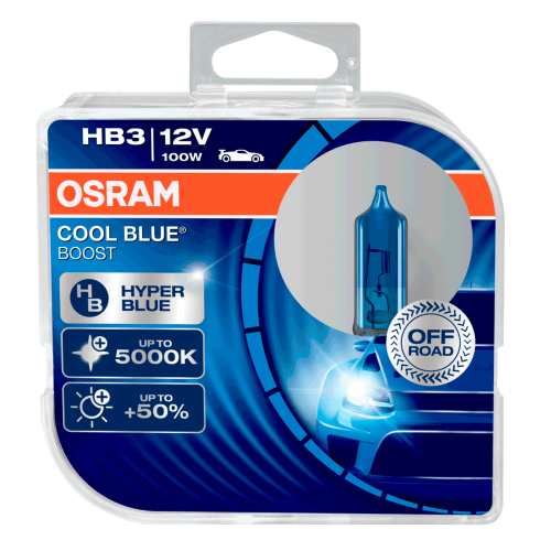 HB3 OSRAM Cool Blue Boost 12V 100W 9005 Halogen Bulbs (Pair)
