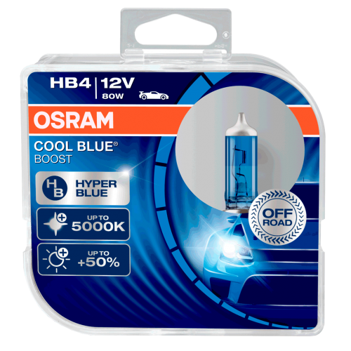 HB4 OSRAM Cool Blue Boost 12V 80W 9006 Halogen Bulbs (Pair)