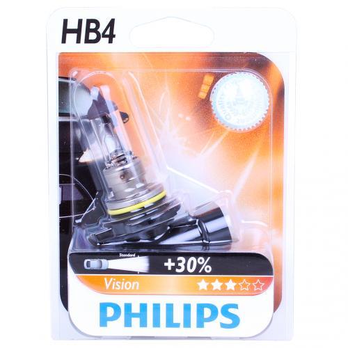 hb4 philips vision 30 12v 55w 9006 halogen bulb. Black Bedroom Furniture Sets. Home Design Ideas
