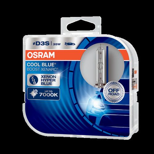 D3S OSRAM Cool Blue Boost Xenarc 35W 7000K Xenon HID Bulbs (Pair)
