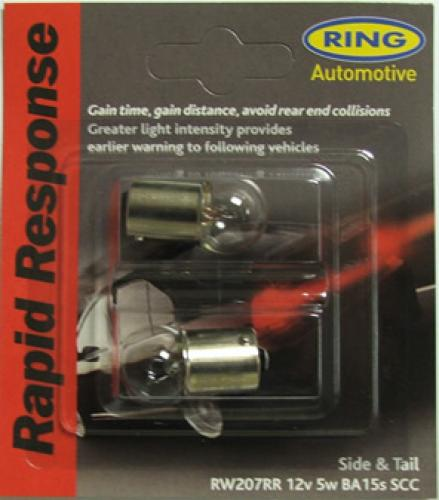 207 Ring Rapid Response 12V 5W R5W Bayonet Bulbs (Pair)