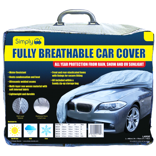 Water Resistant and Breathable Car Covers (Various Sizes)