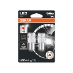 382 OSRAM LEDriving SL Range (P21W) LED Upgrade Bulbs (Red) - Pair