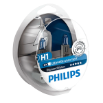 H1 Philips Diamond Vision 12V 55W 448 Halogen Bulbs (Pair)