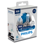 H4 Philips White Vision 12V 60/55W 472 Halogen Bulbs (Pair)