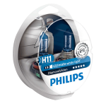 H11 Philips Diamond Vision 12V 55W Halogen Bulbs (Pair)