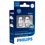 501 Philips X-treme Vision LED 12V W5W T10 Wedge Bulbs (Pair)