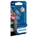 501 Philips White Vision Ultra 12V 5W W5W Wedge Bulbs (Pair)