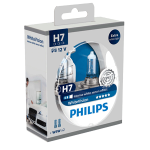 H7 Philips White Vision 12V 55W 477 Halogen Bulbs (Pair)