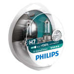 H7 Philips X-treme Vision +130% 12V 55W 477 Halogen Bulbs (Pair)