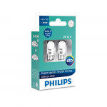 501 Philips Ultinon 6000K LED 12V W5W T10 Wedge Bulbs (Pair)