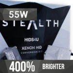 HB3/9005 HIDS4U Stealth 55W Xenon HID Conversion Kit