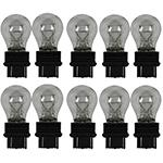 180 Ring Standard Replacement 12V 27/7W 3157 Wedge Bulbs (Trade Pack of 10)