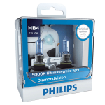 HB4 Philips Diamond Vision 12V 51W 9006 Halogen Bulbs (Pair)