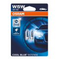 501 OSRAM Cool Blue Intense 12V 5W W5W Wedge Bulbs (Pair)