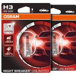 H3 OSRAM Night Breaker Unlimited +110% 12V 55W 453 Halogen Bulbs (Pair)