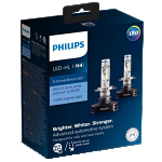 H4 Philips X-Treme Ultinon LED Headlight Bulbs (Pair)