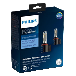 H11/H8/H16 Philips X-Treme Ultinon LED Headlight / Foglight Bulbs (Pair)