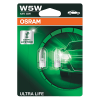 501 OSRAM Ultra Life 12V 5W W5W Wedge Bulbs (Pair)