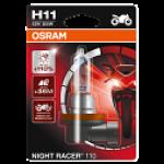 H11 OSRAM Motorbike Night Racer 110 12V 55W Halogen Bulb