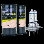 H7 Twenty20 Daylight120 +120% 12V 55W 477 Halogen Bulbs (Pair)