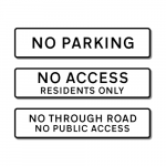 Various Prohibited Access Signs: Minimal Design