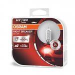 H7 OSRAM Night Breaker Silver Bulbs +100% 12V 55W (Pair)