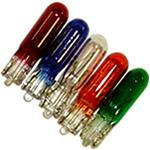 286 Coloured Blue, Green, Red or Amber 12V 1.2W Dashboard & Panel Wedge Bulbs (Trade Pack of 10)