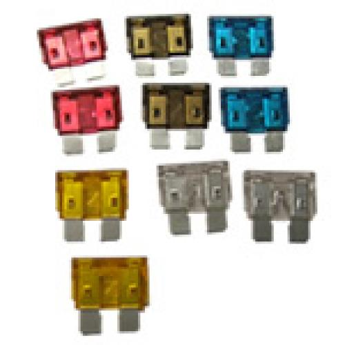 Mix pack of ten Plug-in Spade fuses