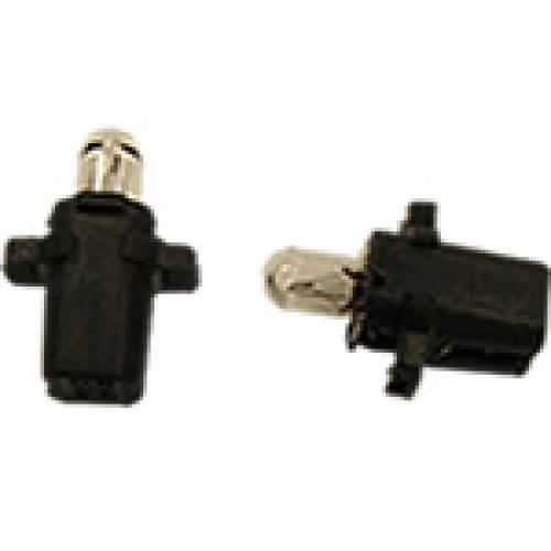 R509TBBK B8.3D 12V 1.2W Panel Bulb Black Base