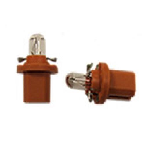 R509TOR BX8.5D  Panel Bulb 12V 1W Orange Base